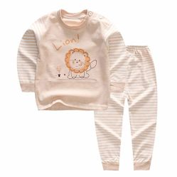 Van het Katoenen van 100% Kledingstuk van de Organische de Pyjama's van de Kleren van het Jonge geitje Baby