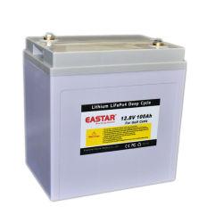 Stockage solaire 12V 100Ah Batterie LiFePO4 avec 3 ans de garantie