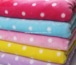 모든 주문을 받아서 만들어진 패턴 Printings 아기가 아이들을%s Flannel 담요에 의하여 점을 찍는다