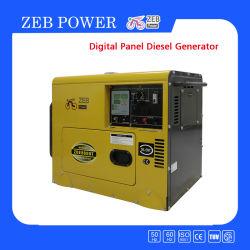 7 КВА бесшумный тип передвижных генераторов (ZDE8600T)