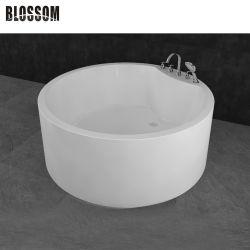 Badezimmer-runde tränkende Lucite-einfache Acrylbad-Wanne freistehende BADEKURORT Badewanne