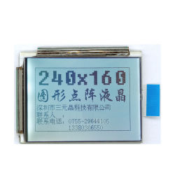 Пользовательский графический ЖК-дисплей с низким энергопотреблением модуль дисплея 18 Контакт 5V белой светодиодной подсветкой Stn/FSTN 240X160 LCD