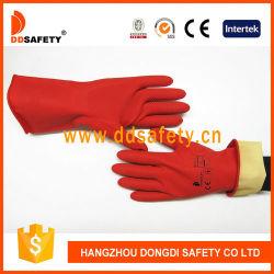 De beste Verkopende Rode Lange Handschoen van het Latex van het Huishouden van het Nitril van het Manchet