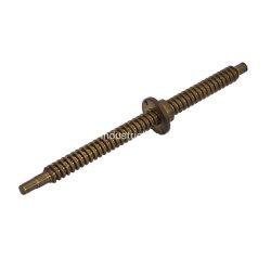 정밀도에 의하여 기계로 가공되는 금관 악기 선형 가이드 투관 나사, 사다리꼴 지도 나사