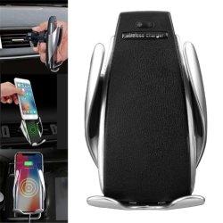 De hete Houder van de Telefoon van de Lader van de Auto van de Verkoop Magische S5 Draadloze Slimme Automatische Vastklemmende voor iPhone X Xs Maximum 8 7 Samsung S8 S9 S10