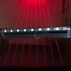 Proyector de láser ocho cabezas de láser rojo LED moviendo la cabeza