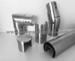 Emplacement du tube en acier inoxydable Raccords de la main courante