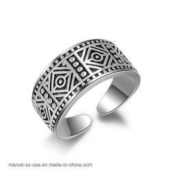 Weinlese-Form-Schmucksache-elegante geöffnete Stulpe-Finger-Frauen-Mann-Ringe