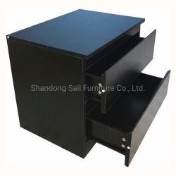 Современные прикроватном столике древесины с выдвижными ящиками