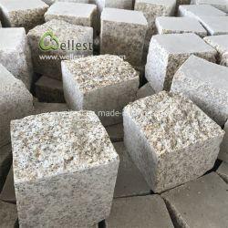 Натуральный камень асфальтирование желтым гранитом Найджелом Пэйвером Setts блока цилиндров