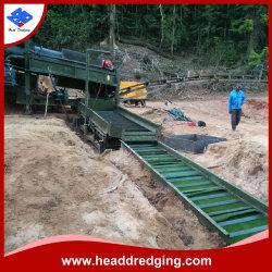 Chef des travaux de dragage Gold Mining machines avec l'agitation/goulottes de fixe