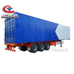 China Jinda de alta qualidade 3 Eixo 50 Ton van Trailer/ usado semi reboque carga/ Caixa fechada de Reboque de Cargas semi reboque para venda
