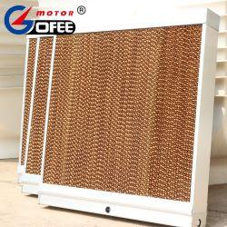 Eficiencia alta evaporación almohadilla de refrigeración de papel en la casa de aves de corral de efecto invernadero de la casa de cerdo