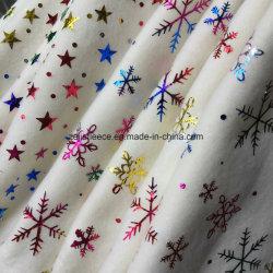 L'estampage à chaud colorés Laine Polaire avec flocon de neige
