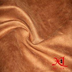 100 % polyester Tissu clair de la teinture des vêtements en daim pour canapé
