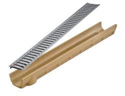 Canal de concreto polímero resistente esvaziar
