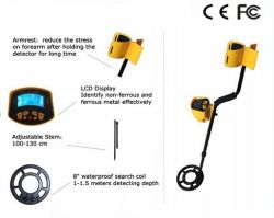 MD-3010IIの安い価格の金の宝物金属探知器、ダイヤモンドの金属探知器、地下の金属探知器