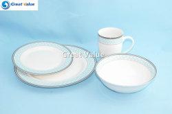 English-Style 16pcs os ronde Chine dîner la vaisselle de table