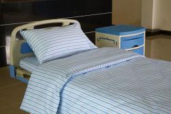 Het zuivere Vlakke Blad van het Katoenen Blauwe Witte Slanke Ziekenhuis van de Streep