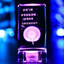 2016 3D лазерная гравировка Flower Crystal Cube Crystal свадебный подарок