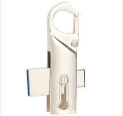 O USB 3.0 Tipo C à prova de Velocidade Alta da Tração Usbthumb OTG Memory Stick Duplo Jump Drive para o smartphone do tipo C, o MacBook, Tablet