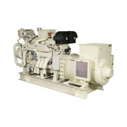 Gruppo elettrogeno marino diesel di Cummins di inizio elettrico raffreddato ad acqua genuino di 50Hz 200kVA