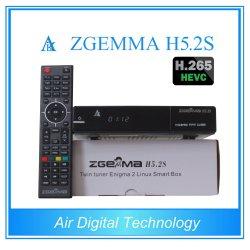 Recursos de alta tecnologia Zgemma H5.2s BCM73625 com núcleo duplo sistema operacional Linux Enigma2 DVB-S2+S2 H. 265 sintonizadores duplos