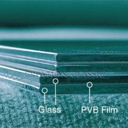 アジアの市場のための6.38mm PVBのフィルムのゆとりの薄板にされたガラス