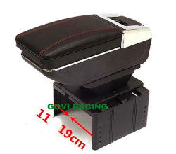 Reposabrazos coche negro de cuero caja estuche caja de almacenamiento de la decoración de la consola la consola de Coche Universal Box