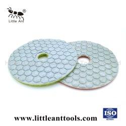 4-pulgada diamante Flexible Pad para pulir en seco de piedra de cuarzo
