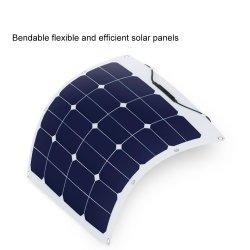 50W Sunpower ETFEの静かに適用範囲が広い折り曲げられる太陽電池パネルDC移動式力の太陽充電器Je3のセル