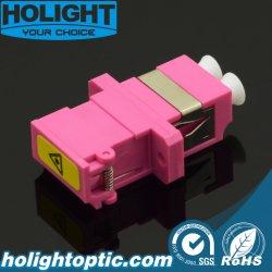 Fibre optique LC à LC de l'adaptateur avec des volets