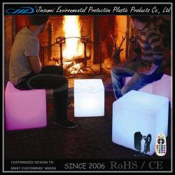Cubo de plástico iluminado mobiliario LED de iluminación