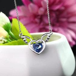 Pendente Heart-Charming ângulo Colar Curto Colar Moda Ornament