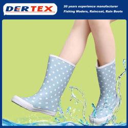 Calhas de chuva de borracha para crianças crianças sapatas PVC meninas do bebé