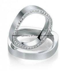 حلقات زفاف من قبل OEM، حلقات زفاف براس دومي، حلقات مجوهرات مقلدة لعرض النوافذ
