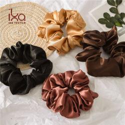 L'imiter en satin de soie Queue de Cheval Strong Scrunchies cheveux élastiques pour les femmes