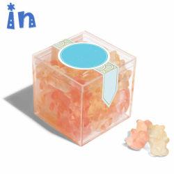 Boda al por mayor a favor de los pequeños de plástico acrílico transparente Caja de caramelos