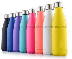 Impresión de OEM de acero inoxidable colorido frasco de agua vacío termo botella