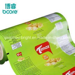 De plastic het Verzegelen het Verzegelen van de Film van het Broodje van de Film Plastic Verpakking van het Af:drukken van het Broodje van de Film van de Verpakking van de Snack van de Verbinding van het Aluminium van de Film van het Sachet van de Film