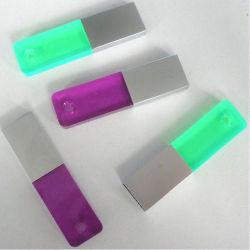 As unidades USB de cristal jóias de 4 GB de memória flash USB para USB metálica Dom promocionais