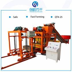 Qt4-25 Maxi la fabrication de briques de béton de ciment de blocs creux pour l'Afrique du Sud de la machine de moulage