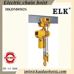 0.5T~60tonnes Elk palan électrique à chaîne avec chariot électrique (HKDM0502S)