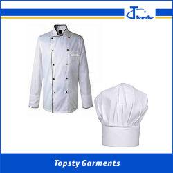 Les hommes personnalisés d'armure sergé de coton blanc Breathale 100%Chef enduire et de Hat