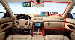Bluetooth WiFi機能の人間の特徴をもつシステム車DVRのバックミラー