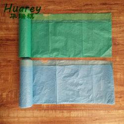 Logo personnalisé de l'impression Heavy Duty sac poubelle en plastique Sac Poubelle avec cordon