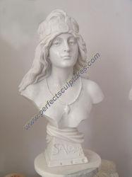 주문 손에 의하여 새겨지는 우아한 여성 대리석 흉상 조각품 (SY-S297)