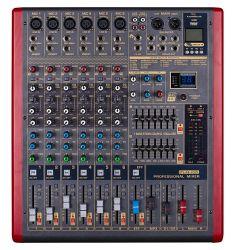 Plx8-USB de 8 canales DJ MEZCLADOR DE SONIDO AUDIO Mezclador de audio de la alimentación Phantom 48V