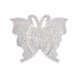 Классическое кольцо в форме бабочки драгоценными камнями кольцо День Рождения женщин подарок украшения для принадлежностей