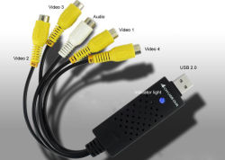 Manica dell'adattatore 4 del USB 2.0 DVR/bloccaggio di Easycap video (W722-4)